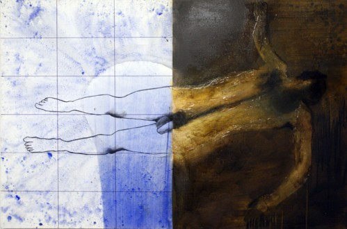 16 Swimmer of Lethe OIl on canvas 2010 6x4ft